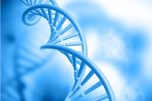 DNA structure on blue background