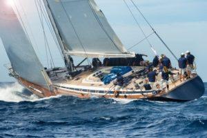 sail boat sailing in regatta
