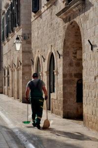 Straenreiniger in Dubrovnik
